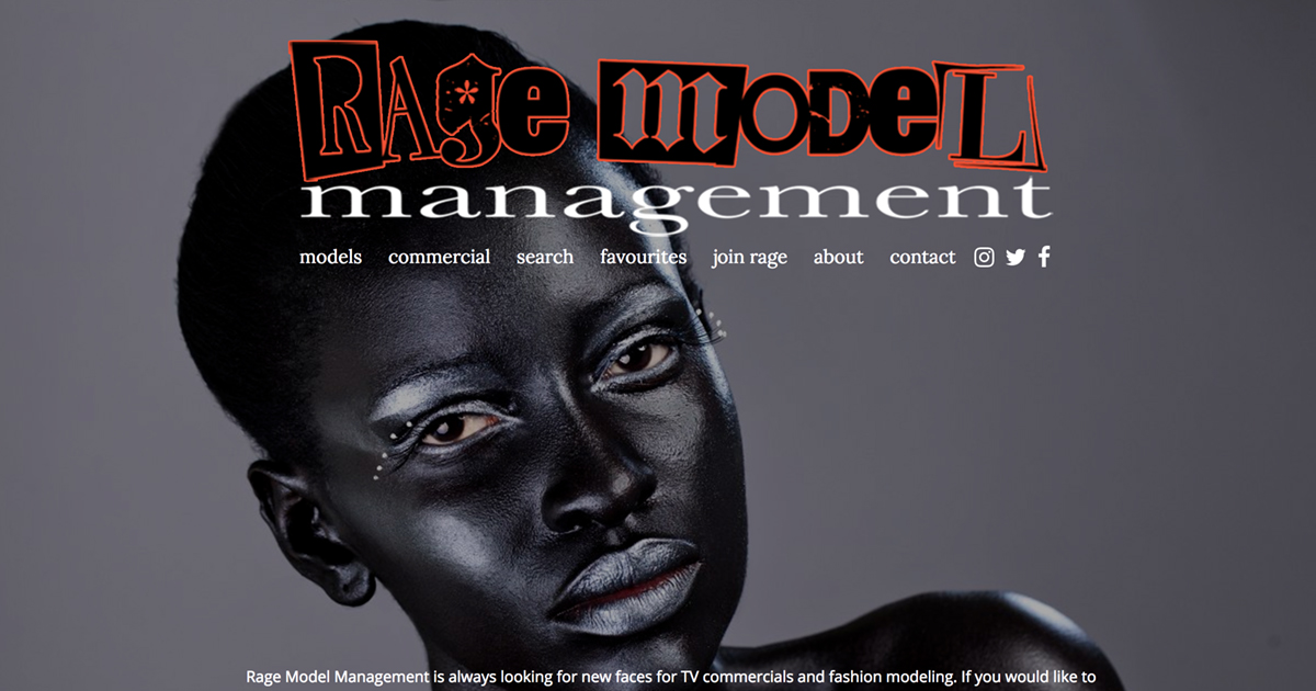 Contact Rage Model Management – model and talent agency